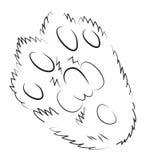 Immagine del fumetto dell'icona della zampa del gatto Logo Concept illustrazione vettoriale