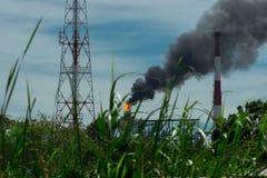 Immagine del fumo della fabbrica liberata Fotografia Stock Libera da Diritti