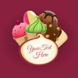 Immagine del gelato Background Immagini Stock