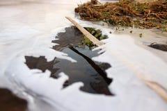 Immagine del ghiaccio con acqua Fotografia Stock
