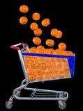 Immagine del mandarino in carretto Fotografie Stock