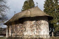 Immagine del monastero di Gura Humorului, Moldavia, Romania Immagine Stock