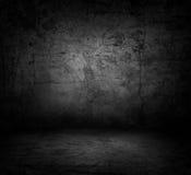 Immagine del muro di cemento e del pavimento scuri Fotografia Stock