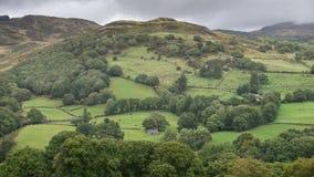 Immagine del paesaggio della vista dalla passeggiata del precipizio in overloo di Snowdonia immagine stock