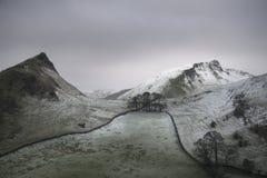 Immagine del paesaggio di inverno di Stuning della collina di Chrome e della collina di Parkhouse immagini stock libere da diritti