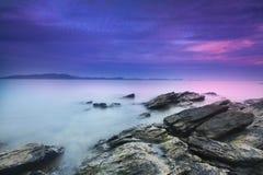 Immagine del paesaggio di tramonto del mare Immagine Stock Libera da Diritti