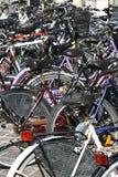 Immagine del parcheggio delle biciclette Fotografie Stock Libere da Diritti