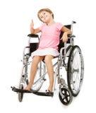 Immagine del positivo di handicap fotografia stock libera da diritti