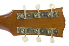 Immagine del primo piano dei sintonizzatori classici della chitarra Immagini Stock Libere da Diritti