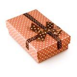 Immagine del primo piano del contenitore di regalo Immagini Stock