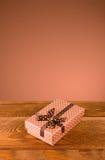 Immagine del primo piano del contenitore di regalo Fotografie Stock