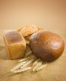 Immagine del primo piano del grano e del pane fotografie stock