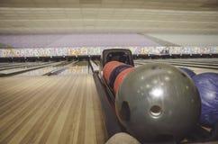 Immagine del primo piano delle palle da bowling Fotografia Stock