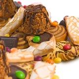 immagine del primo piano di molti biscotti fotografia stock