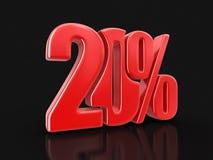 Immagine del segno 20% Fotografie Stock