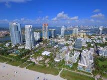 Immagine del sud dell'antenna di Florida della spiaggia Immagini Stock Libere da Diritti