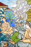 Immagine del vetro macchiato della storia di Mahajanaka Fotografia Stock Libera da Diritti