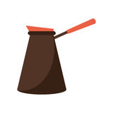 immagine dell'acciaio della caffettiera Immagine Stock Libera da Diritti