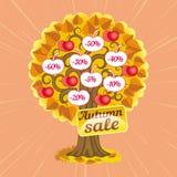 Immagine dell'albero di vendite di autunno Fotografia Stock