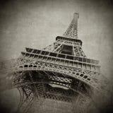 Immagine dell'annata della Torre Eiffel, Parigi Immagine Stock