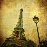 Immagine dell'annata della Torre Eiffel, Parigi, Francia Fotografie Stock Libere da Diritti