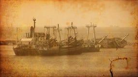 Immagine dell'annata di vecchio naufragio della nave del naufragio immagine stock
