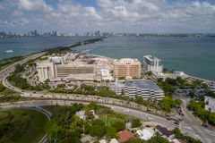 Immagine dell'antenna di Miami Beach del centro medico di monte Sinai Fotografia Stock