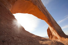 Immagine dell'arco del Wilson in Moab, Utah Immagini Stock Libere da Diritti