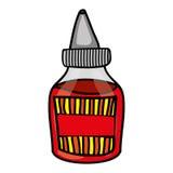 Immagine dell'icona della bottiglia della salsa Fotografia Stock Libera da Diritti