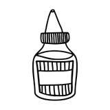 Immagine dell'icona della bottiglia della salsa Fotografie Stock Libere da Diritti