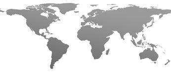 Immagine dell'illustrazione della mappa di mondo Fotografie Stock Libere da Diritti