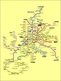 Immagine dell'illustrazione di una mappa della metropolitana di Madrid royalty illustrazione gratis