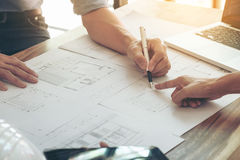 Immagine dell'ingegnere o del progetto architettonico, disco d'organizzazione due immagine stock