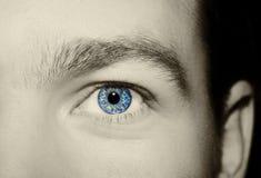 Immagine dell'occhio azzurro del ` s dell'uomo Fotografie Stock Libere da Diritti