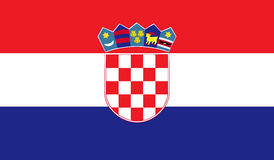 Immagine della bandiera della Croazia royalty illustrazione gratis