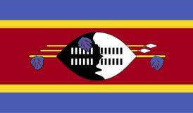 Immagine della bandiera dello Swaziland Immagini Stock