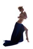 Immagine della bionda topless graziosa che posa nello studio Fotografie Stock