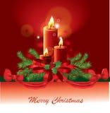 Immagine della candela di natale Fotografia Stock