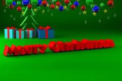 Immagine della congratulazione per il Natale Fotografia Stock