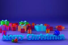 Immagine della congratulazione per il Natale Fotografie Stock