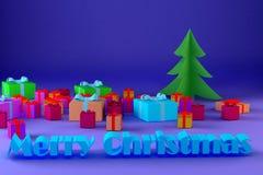 Immagine della congratulazione per il Natale Fotografia Stock Libera da Diritti
