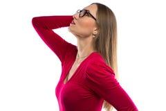 Immagine della donna che cerca, sognante Immagini Stock