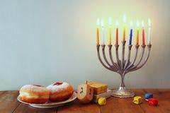 Immagine della festa ebrea Chanukah Fotografie Stock Libere da Diritti