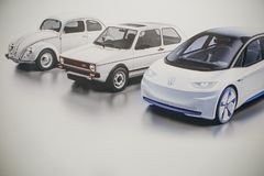 Immagine della foto dell'automobile di nuovo concetto da Volkswagen fotografia stock libera da diritti