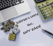 Immagine della gestione di investimento Fotografie Stock