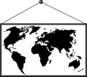 Immagine della mappa dell'immagine sulla parete Fotografia Stock Libera da Diritti