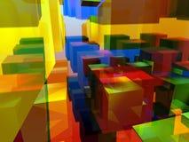 Immagine della miscela dei cubi Fotografia Stock Libera da Diritti