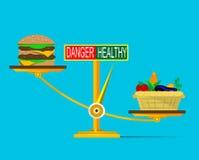 Immagine della nutrizione sana dei benefici Fotografia Stock