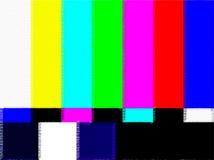 Immagine della prova della TV Fotografie Stock