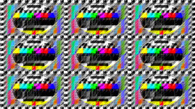 Immagine della prova della TV Fotografia Stock